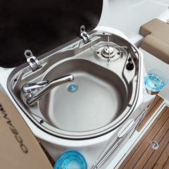 day charter formentera oceanmaster 680 sink and stove