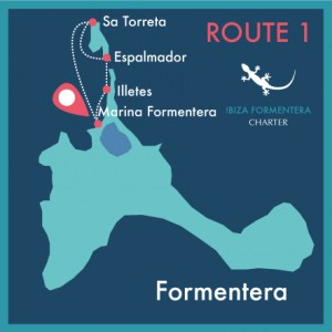route map day charter ibiza formentera