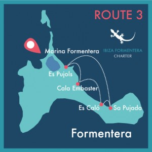 map route 3 day charter ibiza formentera