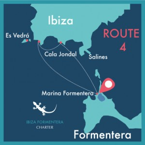 map route 4 day charter ibiza formentera