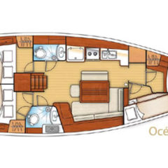 rent boat oceanis 43 layout
