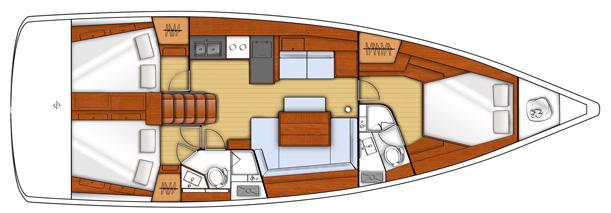 layout oceanis 45 ibiza formentera charter