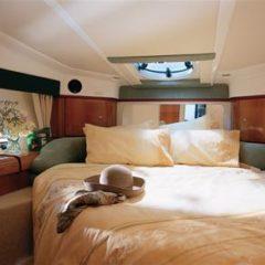 Sealine S34 motor boat charter Ibiza Formentera large master cabin