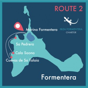 map route 2 day charter ibiza formentera